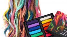 Las tizas de colores le pueden dar un aspecto muy original a tu cabello
