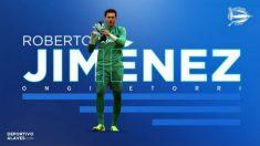 Roberto Jiménez, nuevo fichaje del Alavés. (Deportivo Alavés)