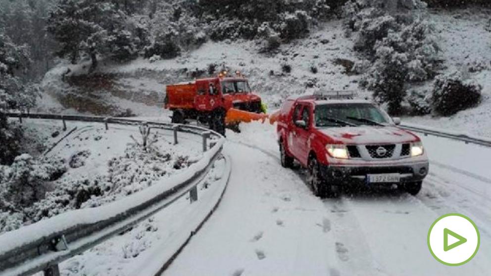 Carretera con nieve. Foto: EP