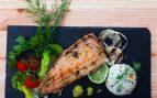Trucha cocinada en salsa de lima