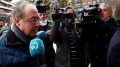 Ángel Vizcay, a su llegada a la Audiencia Provincial de Navarra. (EFE)