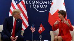 Donald Trump en el Foro de Davos. Foto: AFP