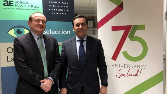 Miguel Ángel Redondo,delegado del Área de Economía, Innovación y Empleo del Ayuntamiento de Madrid, y Eduardo Pastor, presidente del Grupo Cofares.