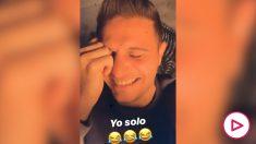 Joaquín Sánchez contando chistes en Instagram.