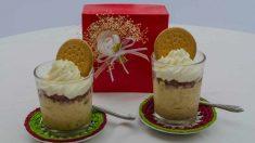 Receta de Mousse de queso y galletas al caramelo