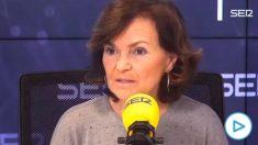 Carmen Calvo defiende que el Congreso de los Diputados se llame solo Congreso: «Si no, ¿qué hacemos allí las diputadas?».