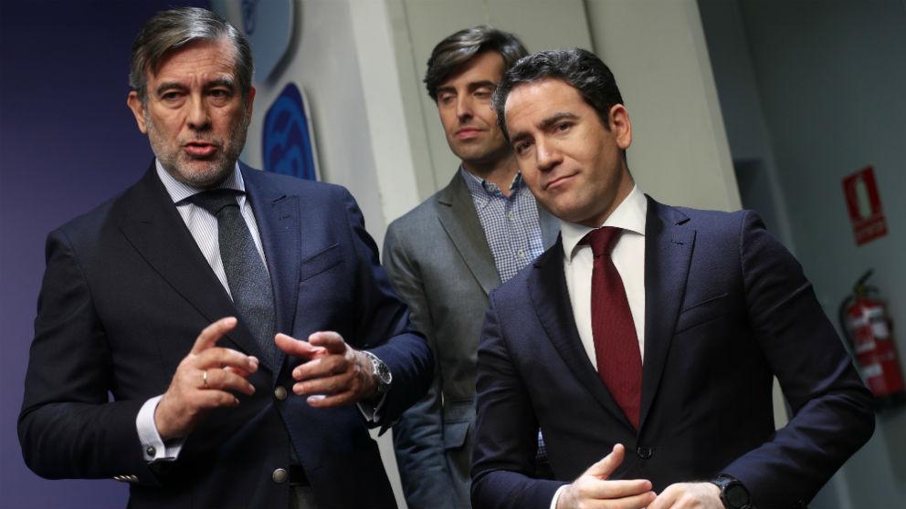 Teodoro García Egea y Enrique López