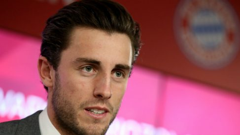 Odriozola, en su presentación con el Bayern. (AFP)