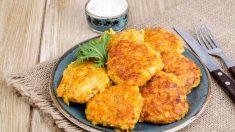 Receta de Tortitas de zanahoria y queso