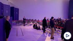 El plenario de Davos durante la intervención de Pedro Sánchez
