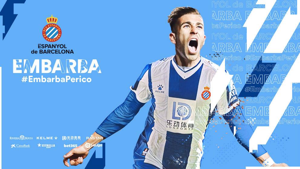Adrián Embarba, nuevo fichaje del Espanyol. (@RCDEspanyol)