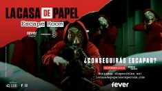 Escape Room de La Casa de Papel, organizada por Fever.