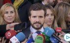 Casado anuncia que el PP se querellará contra el Gobierno si no cesa a Torra de sus funciones