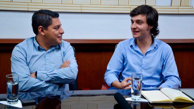 Álvaro Coimbra durante la entrevista con OKDIARIO.