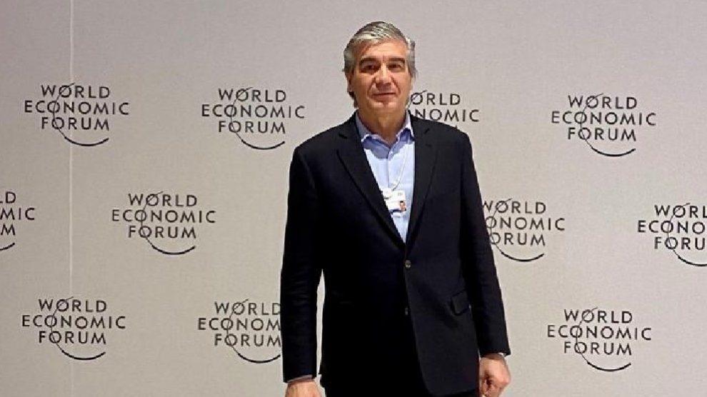 El presidente de Naturgy, Francisco Reynés, en Davos (Europa Press).