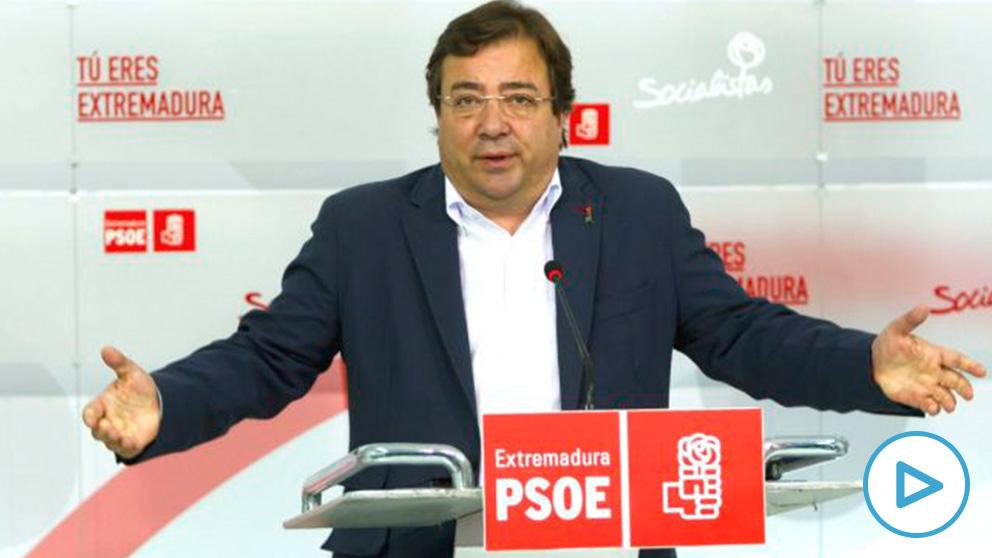 El presidente de la Junta de Extremadura y secretario general del PSOE regional, Guillermo Fernández Vara. (Foto: Efe)