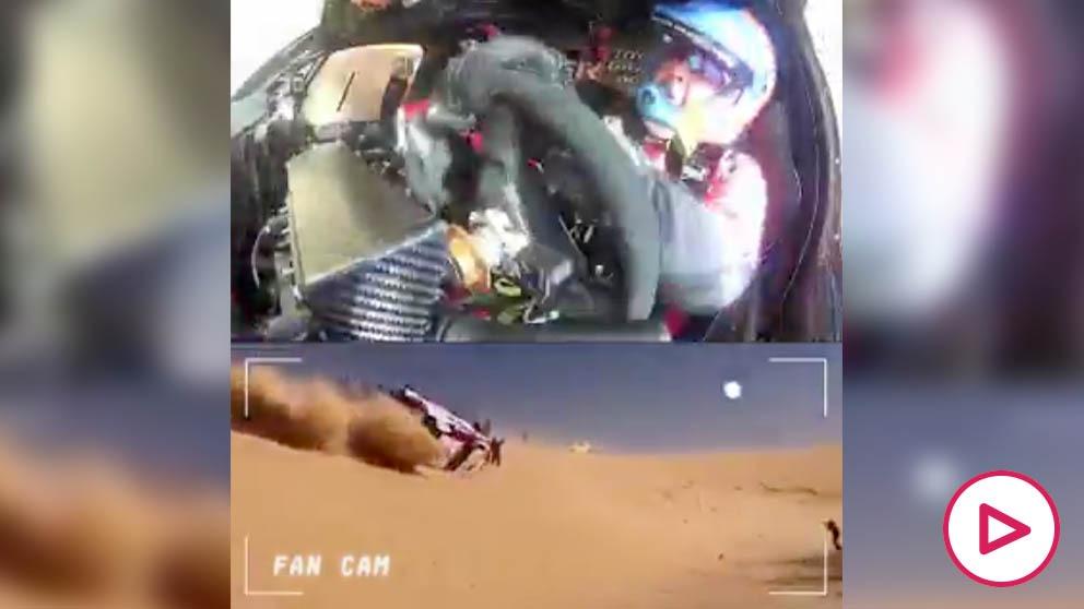 Fernando Alonso salió volando en el Dakar.