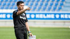 Asier Garitano en un entrenamiento con el Alavés. (Deportivo Alavés)