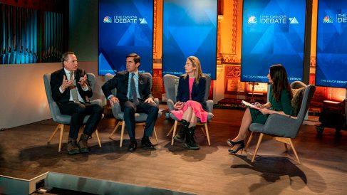 Carlos Torres, presidente de BBVA, en Davos.