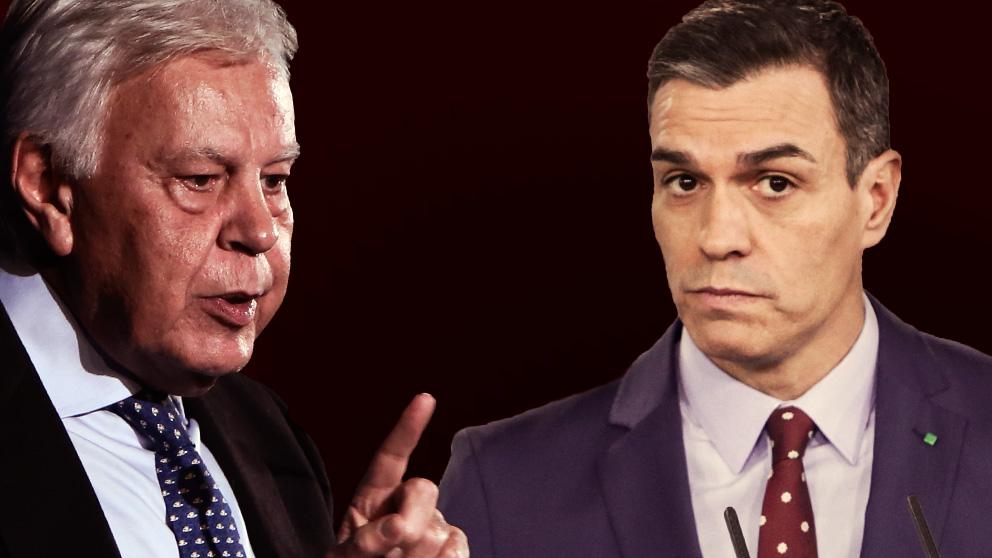 Felipe González, ex presidente del Gobierno, y Pedro Sánchez, actual Jefe del Ejecutivo.