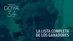 Lista completa de los ganadores de los Premios Goya 2020