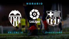 Valencia – Barcelona: partido de la jornada 21 de la Liga Santander.