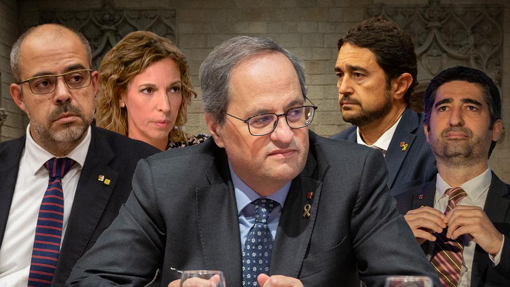 Jordi Puigneró, Miquel Buch, Damià Calvet y Àngels Chacón son los posibles relevos de Torra