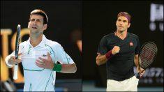 Novak Djokovic y Roger Federer. (Getty)