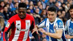 Iñaki Williams ante el Espanyol. (EFE)