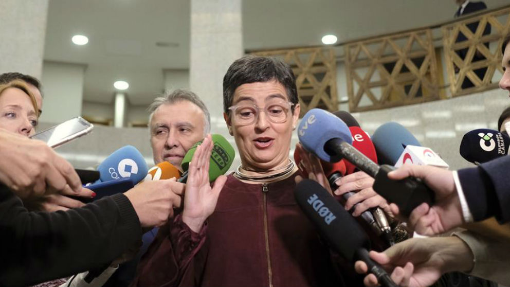 La ministra de Exteriores, Arancha González Laya, hoy en Canarias. (Efe)