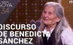 Discurso de Benedicta Sánchez, Goya a Mejor Actriz Revelación