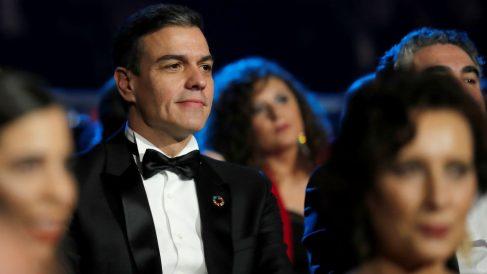 El presidente Pedro Sánchez, este sábado en Málaga durante la Gala de los Goya.