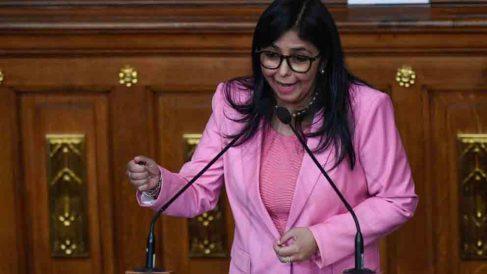 Delcy Rodríguez, vicepresidenta del régimen de Nicolás Maduro en Venezuela. (Foto: AFP)