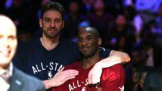 Pau Gasol y Kobe Bryant, en el All-Star de 2016. (Getty)