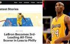 La página de los Lakers y Kobe Bryant.