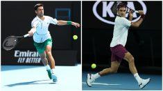 Djokovic y Federer en Australia.