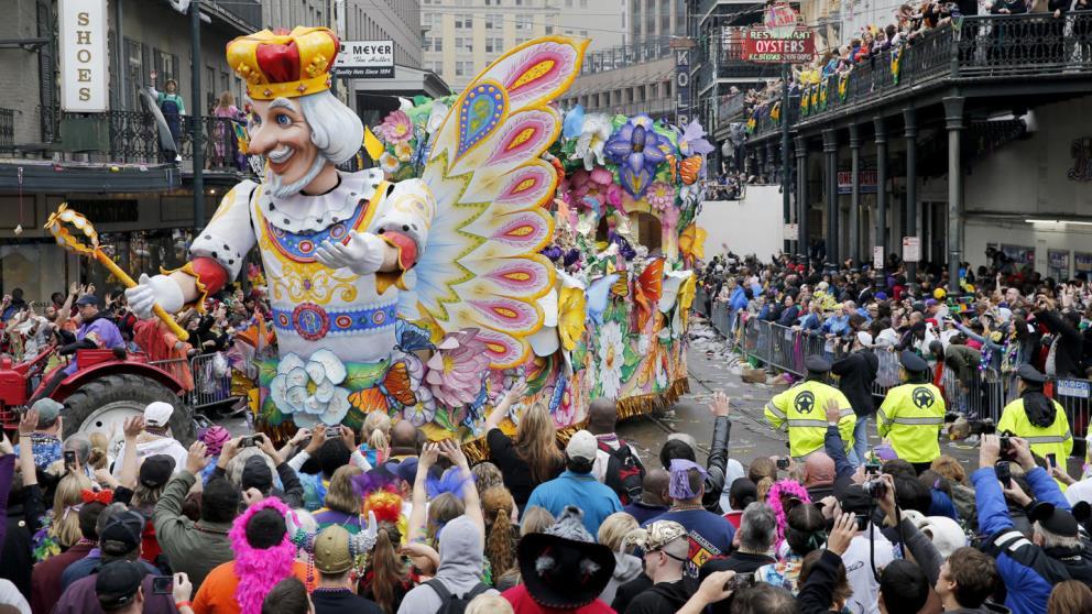 El de Nueva Orleans es uno de los carnavales más famosos del mundo