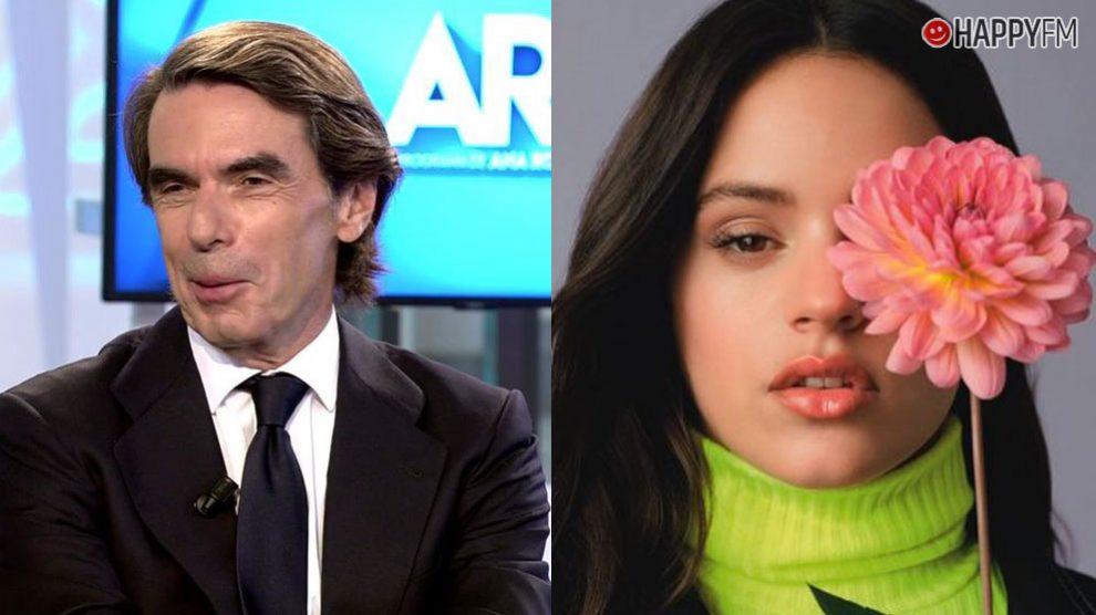 La inesperada relación entre la cantante Rosalía y el político José María Aznar