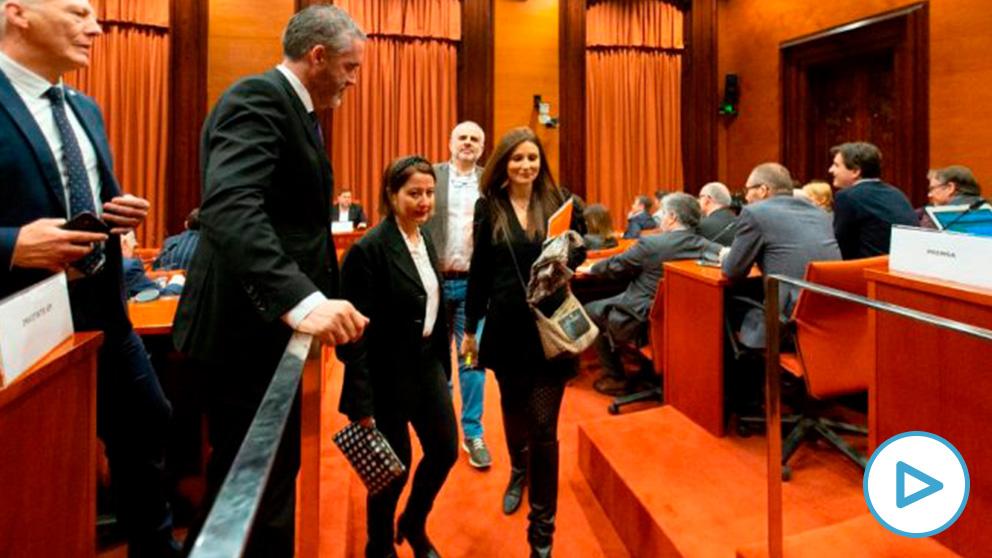 Ciudadanos abandona la comisión del 155. Foto: EFE