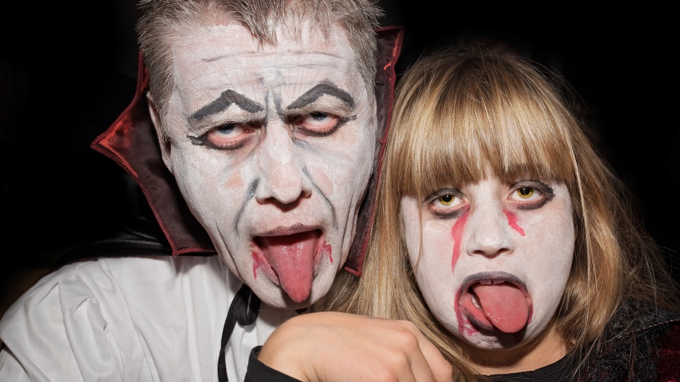 El disfraz de vampiro es perfecto para todas las edades