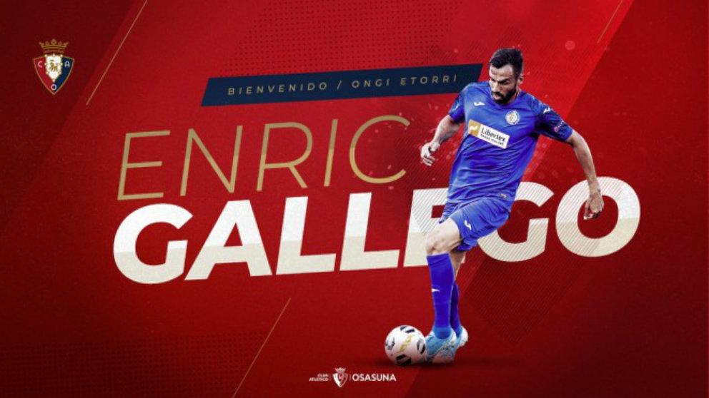 Enric Gallego, nuevo fichaje de Osasuna. (Club Atlético Osasuna)