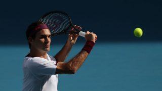 Roger Federer en el Open de Australia.