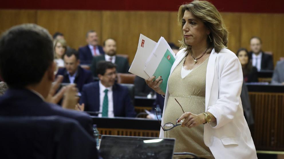Susana Díaz en el Pleno del Parlamento andaluz celebrado este martes. (Ep)