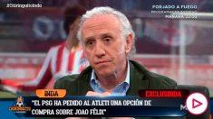 Inda adelantó en El Chiringuito el interés del PSG en Joao Félix.