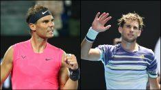 Horario y tv para ver el partido Nadal vs Thiem del Open de Australia. (Fotos: Getty)