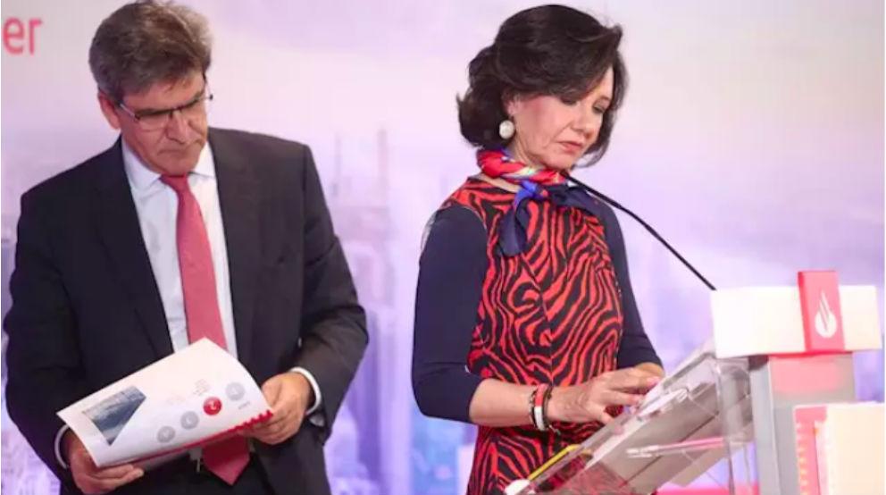 Ana Botín, presidenta de Santander, junto al CEO José Antonio Álvarez