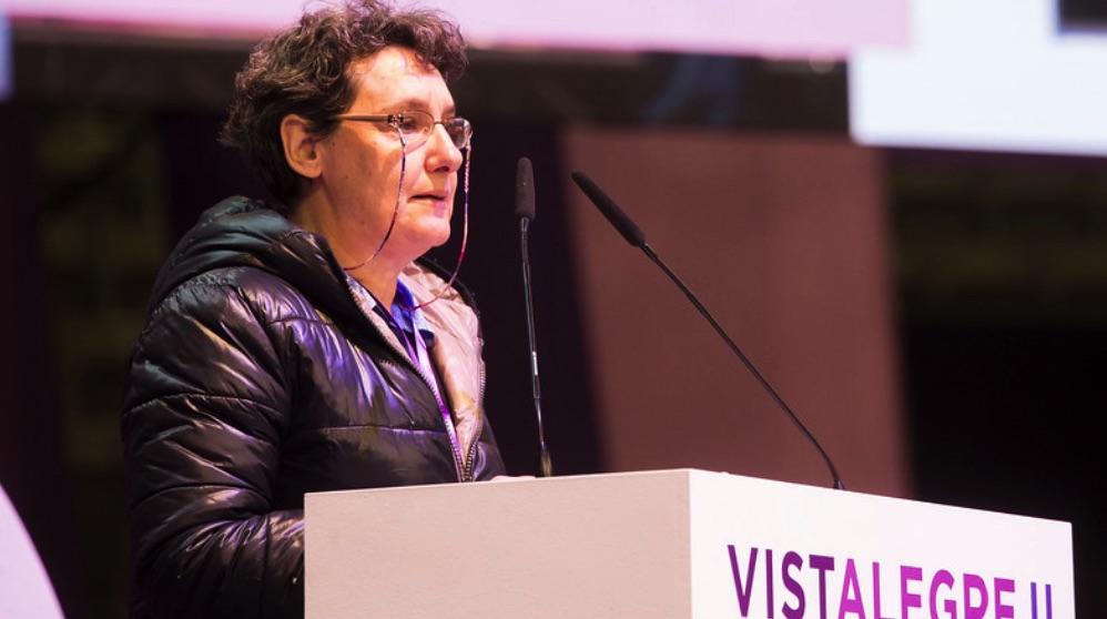 Beatriz Gimeno en Vistalegre 2. (Foto. Podemos)