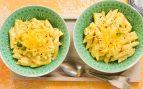 Receta de macarrones con salsa de coliflor y queso