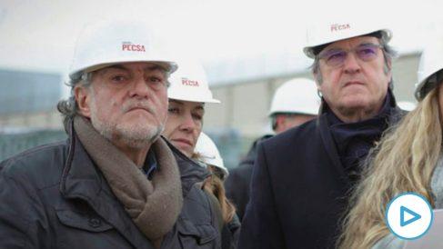 Pepu Hernández y Ángel Gabilondo vistando las obras del centro de emergencia. (Foto. PSOE)