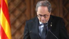 El presidente de la Generalitat, Quim Torra. (Foto: Efe)